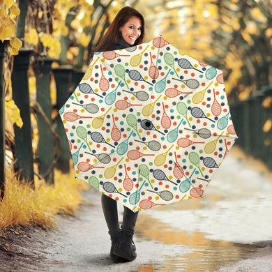 Tennis Pattern Print Design 03 Umbrella