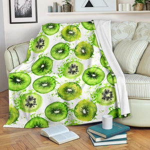 Watercolor kiwi pattern Premium Blanket