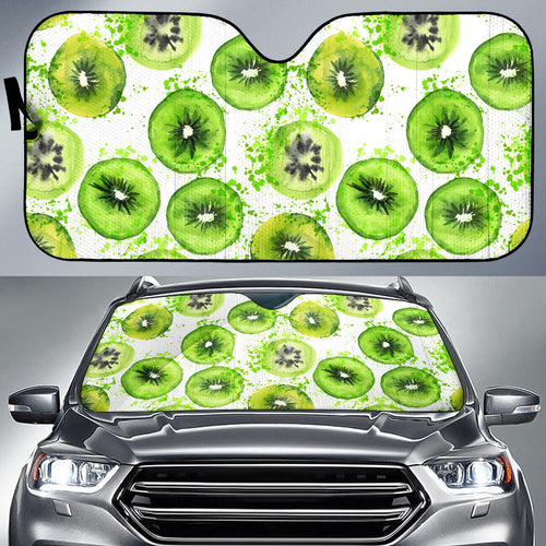 Watercolor kiwi pattern Car Sun Shade