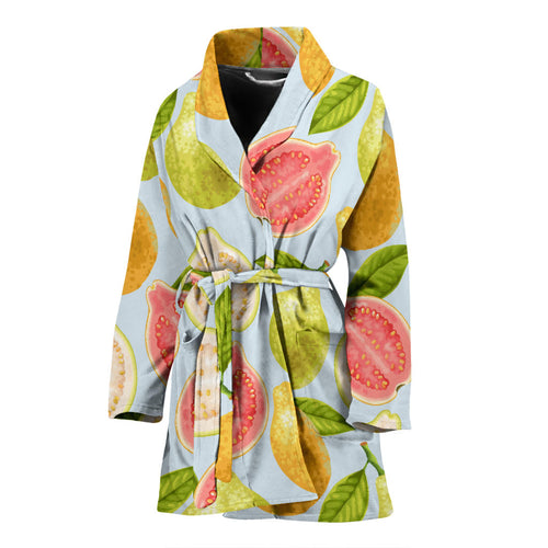 Guava design pattern Women's Bathrobe