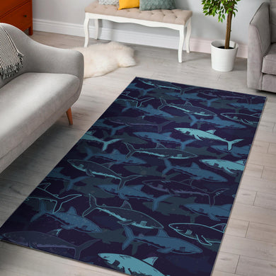 Shark pattern Area Rug