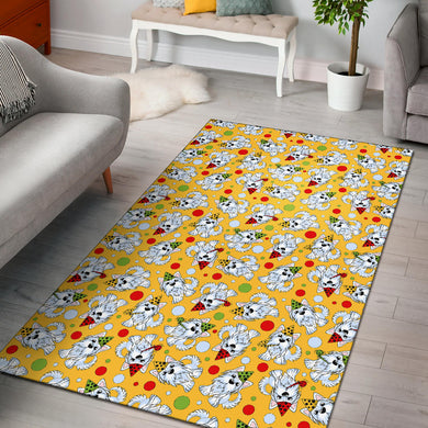 Yorkshire Terrier Pattern Print Design 05 Area Rug