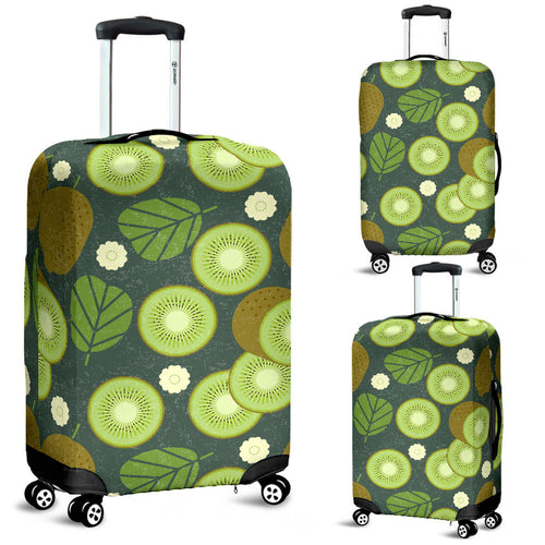 Whole sliced kiwi leave and flower Luggage Covers