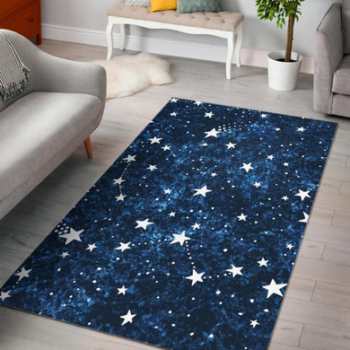 Night sky star pattern Area Rug
