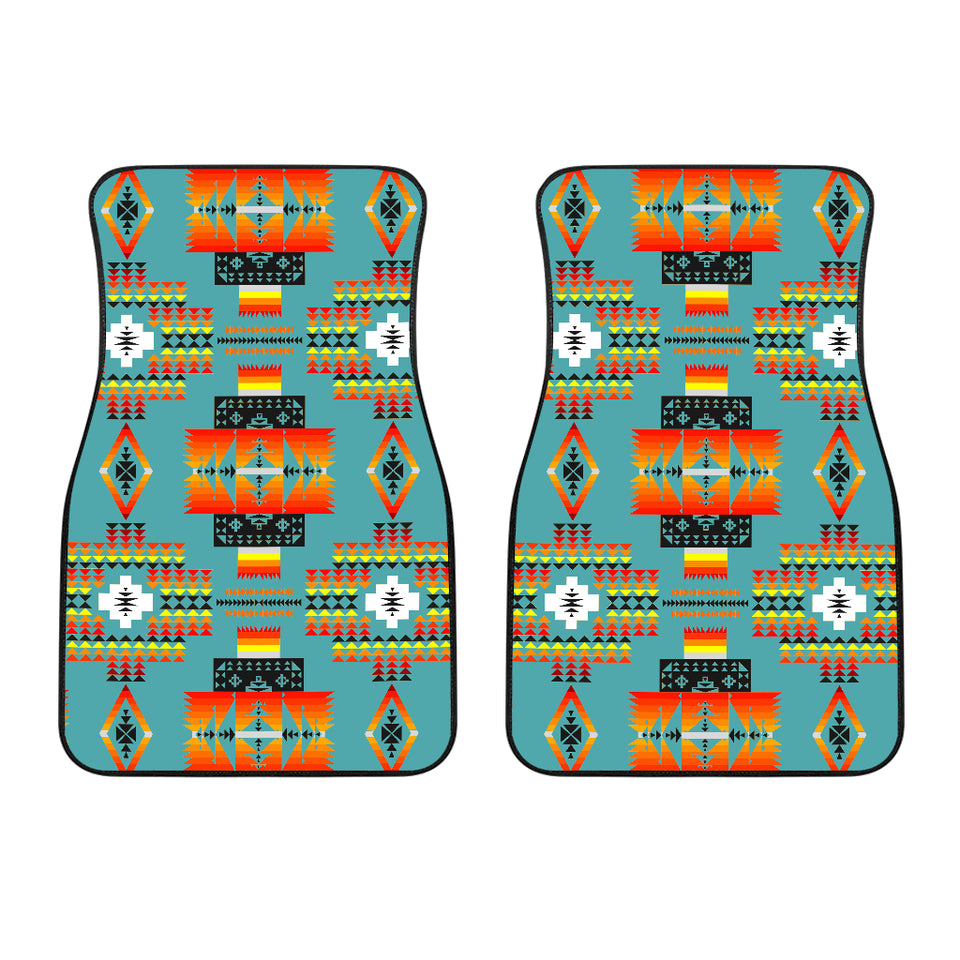 Seven Tribes Teal Front Car Mats (Set Of 2)