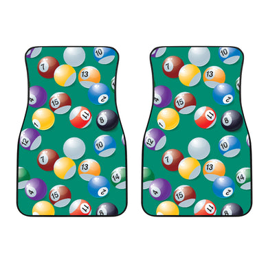 Billiard Ball Pattern Print Design 01 Front Car Mats