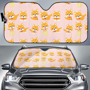 Cute Shiba Inu Dog Pattern  Car Sun Shade