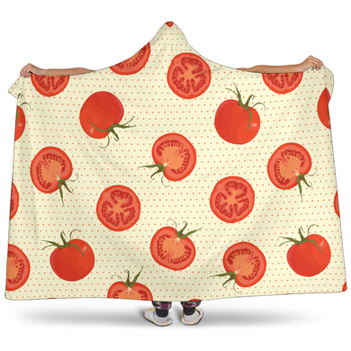 Tomato Dot Background Hooded Blanket