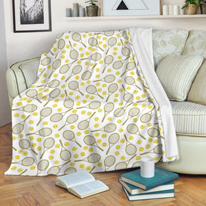 Tennis Pattern Print Design 02 Premium Blanket