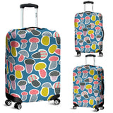 Colorful Mushroom Design Pattern Luggage Covers