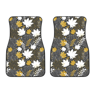 Beautiful gold autumn maple leaf pattern Front Car Mats