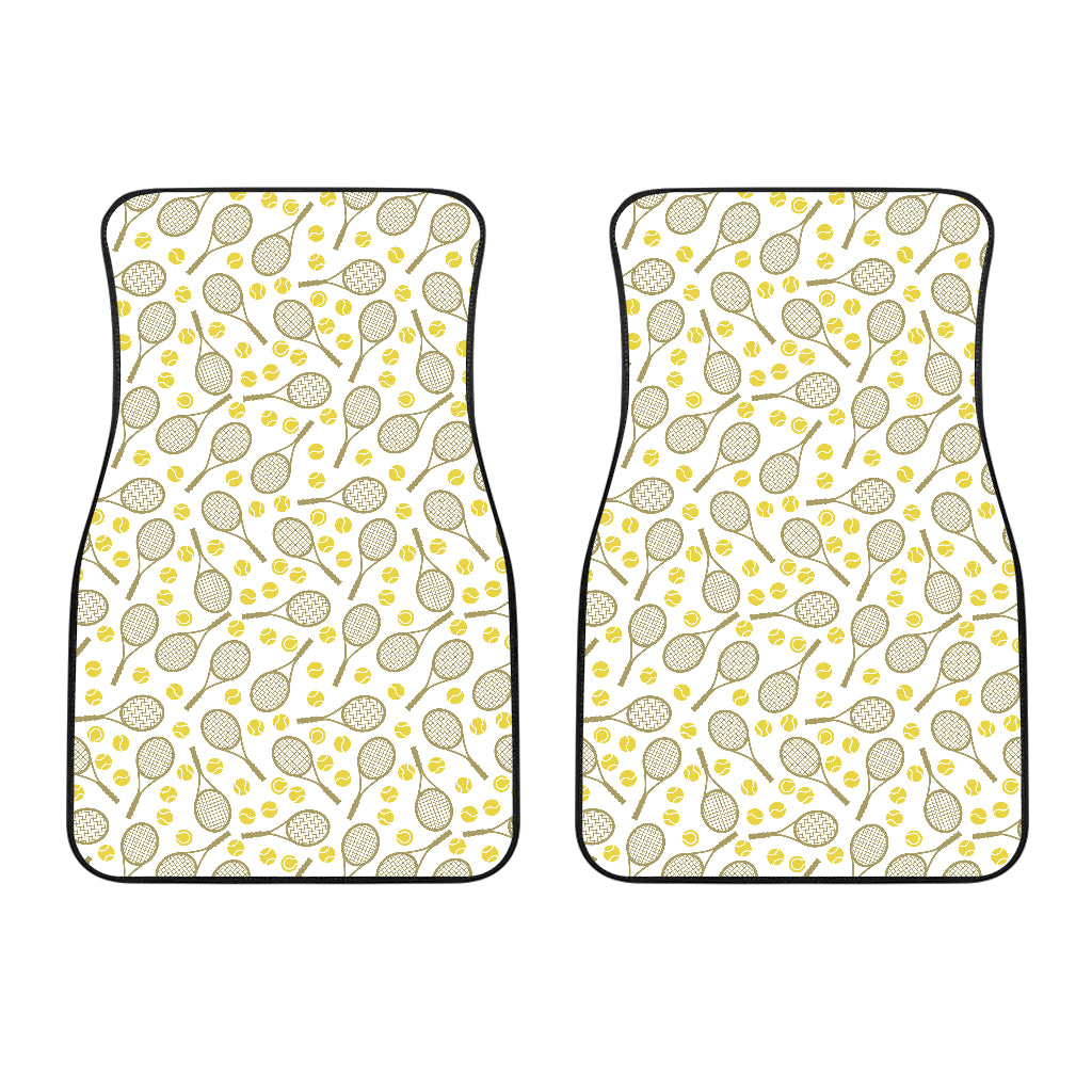 Tennis Pattern Print Design 02 Front Car Mats