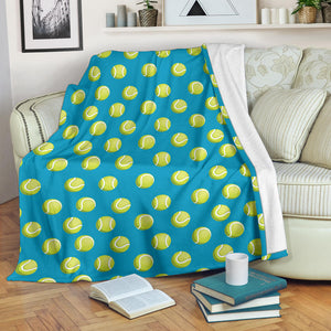 Tennis Pattern Print Design 05 Premium Blanket