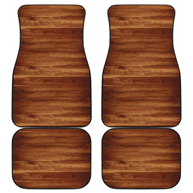 Wood Printed Pattern Print Design 04 Front and Back Car Mats