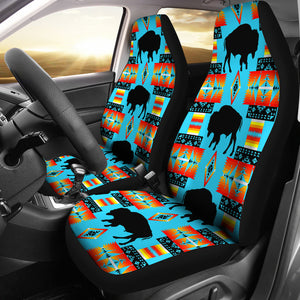 Seven Tribes Buffalo Turquoise Set Of 2 Car Seat Covers