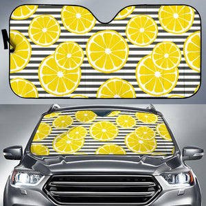 slice of lemon design pattern Car Sun Shade