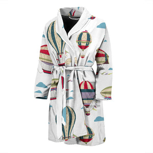 Hot Air Balloon Pattern Men'S Bathrobe