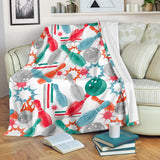 Watercolor Bowling Pattern Premium Blanket