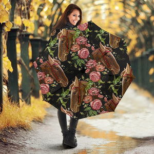 Horse head wild roses pattern Umbrella