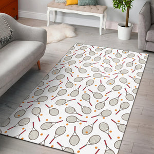 Tennis Pattern Print Design 04 Area Rug