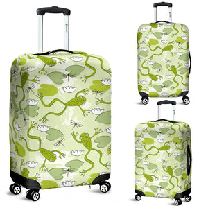 Cute Frog Dragonfly Pattern Luggage Covers