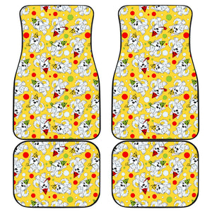 Yorkshire Terrier Pattern Print Design 05 Front and Back Car Mats