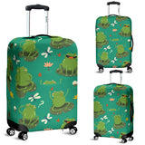 Cute Frog Dragonfly Design Pattern Luggage Covers