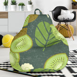Whole sliced kiwi leave and flower Bean Bag Chair
