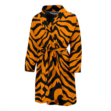 Bengal Tigers Skin Print Pattern Men'S Bathrobe