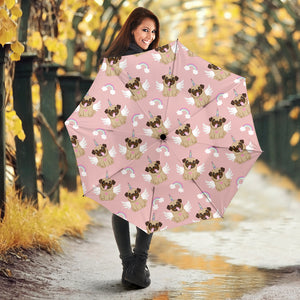 Cute unicorn pug pattern Umbrella