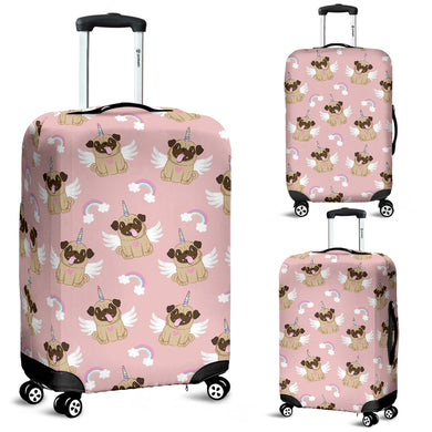 Cute unicorn pug pattern Luggage Covers