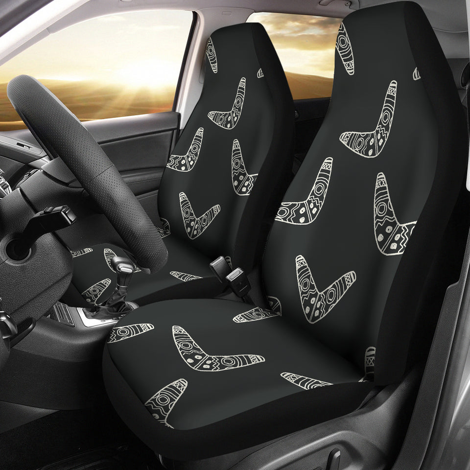 Hand Drawn Boomerang Australian Aboriginal Ornament  Universal Fit Car Seat Covers