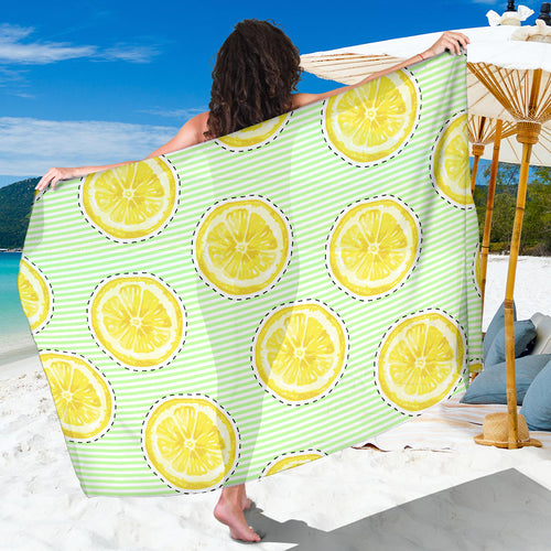 slice of lemon pattern Sarong