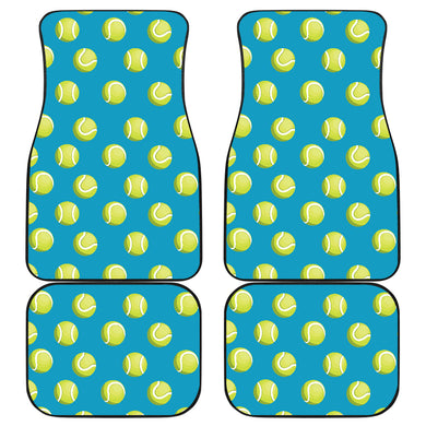 Tennis Pattern Print Design 05 Front and Back Car Mats
