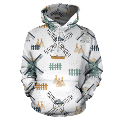windmill pattern Pullover Hoodie