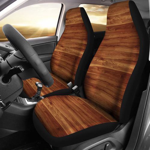 Wood Printed Pattern Print Design 04 Universal Fit Car Seat Covers