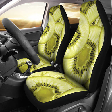 Sliced kiwi pattern Universal Fit Car Seat Covers