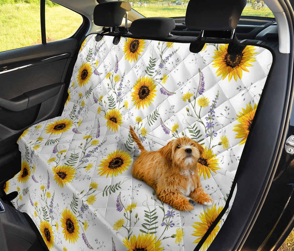 Superb Beautiful Sunflowers Pattern Dog Car Seat Covers Ccgoodshop Andrewgaddart Wooden Chair Designs For Living Room Andrewgaddartcom