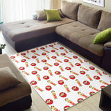 Daruma japanese wooden doll Area Rug