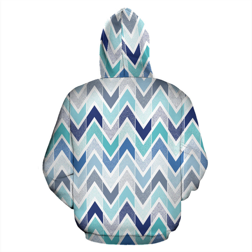 zigzag  chevron blue pattern Men Women Pullover Hoodie