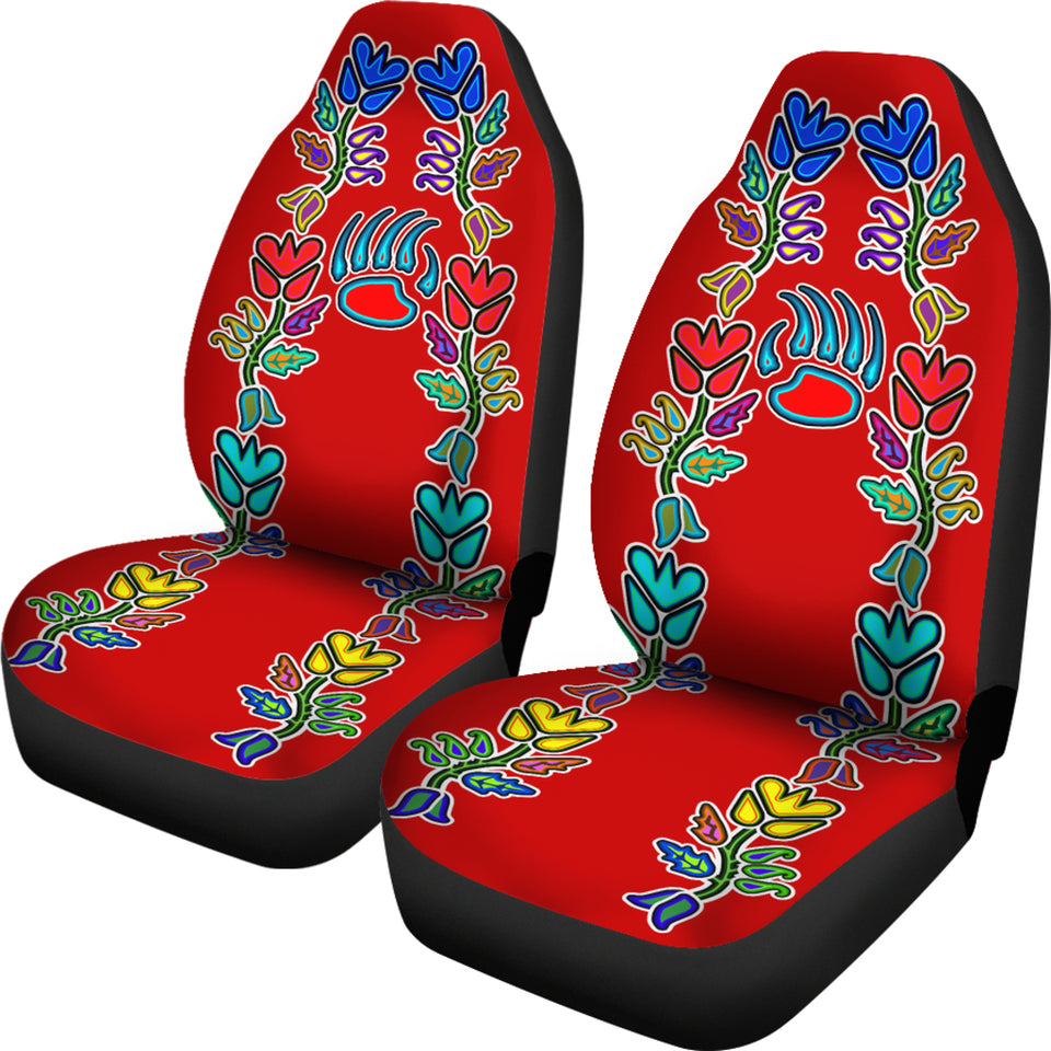 Floral Generations Red With Bearpaw Car Seat Covers