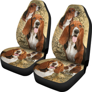 Basset Hound Car Seat Covers (Set of 2)