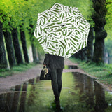 Hand Drawn Sketch Style Green Chili Peppers Pattern Umbrella