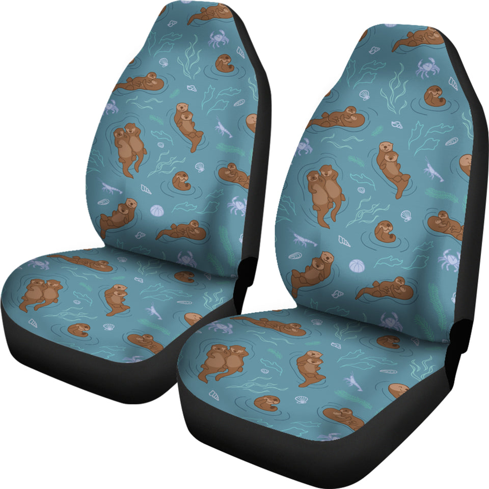 Sea Otters Pattern Universal Fit Car Seat Covers