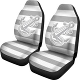 Car Seat Covers - Boat Anchor Strip Smoke Grey