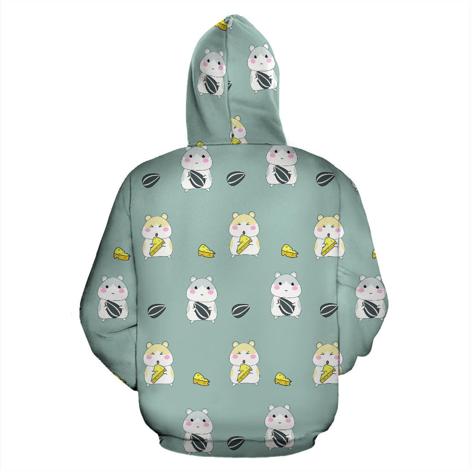 Cute hamster cheese pattern Pullover Hoodie