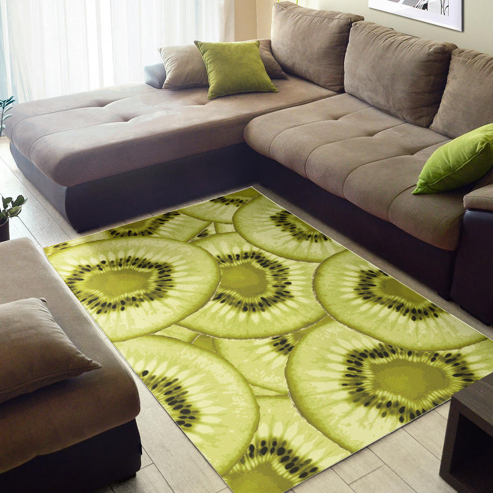 Sliced Kiwi Pattern Area Rug