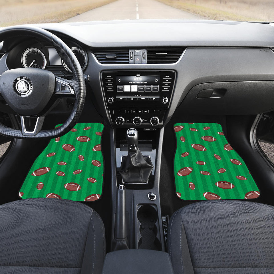 American Football Ball Field Background  Front Car Mats