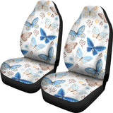 blue butterfly pattern  Universal Fit Car Seat Covers