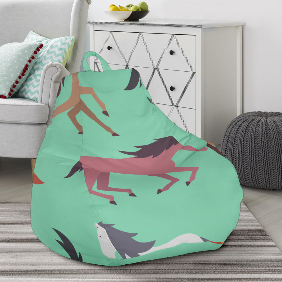 Colorful horses pattern Bean Bag Chair